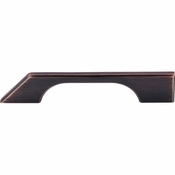 """Top Knobs - Sanctuary Collection - Tapered Bar Pull 5"""" (c-c) - Tuscan Bronze - TK14TB"""