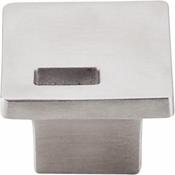 "Top Knobs - Sanctuary II Collection - Modern Metro Slot Knob 1 1/4"" - Brushed Stainless Steel - TK269SS"