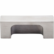 "Top Knobs - Sanctuary II Collection - Modern Metro Tab Pull 2"" (c-c) - Brushed Stainless Steel - TK275SS"