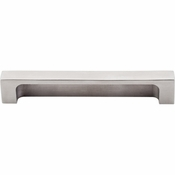 "Top Knobs - Sanctuary II Collection - Modern Metro Tab Pull 5"" (c-c) - Brushed Stainless Steel - TK276SS"