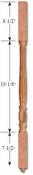 Carolina Stair Supply - Savannah Cherry Baluster - 4001-R-36-CH