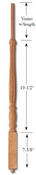 Carolina Stair Supply - Savannah Red Oak Baluster - 4011-R-36-RO