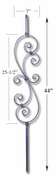 Carolina Stair Supply - Scroll Baluster - CS16.1.23-CV