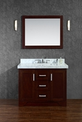 "Seacliff by Ariel Ashbury 42"" Single Sink Vanity Set in Walnut"