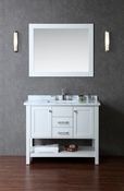 "Seacliff by Ariel Bayhill 42"" Single Sink Vanity Set in Cloud Grey"
