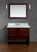 "Seacliff by Ariel Beckonridge 42"" Single Sink Vanity Set in Walnut"