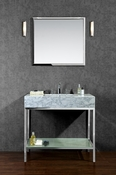 "Seacliff by Ariel Brightwater 36"" Single Sink Vanity Set"