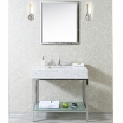 "Seacliff by Ariel Brightwater 36"" Single Sink Vanity Set (Quartz)"
