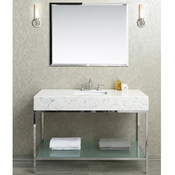 "Seacliff by Ariel Brightwater 48"" Single Sink Vanity Set (Quartz)"