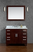 "Seacliff by Ariel Frampton 42"" Single Sink Vanity Set in Walnut"