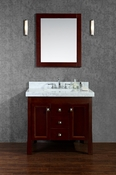 "Seacliff by Ariel Greenbrier 36"" Single Sink Vanity Set in Walnut"