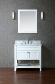 "Seacliff by Ariel Mayfield 36"" Single Sink Vanity Set in White"