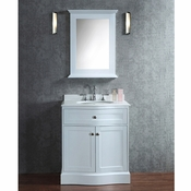 "Seacliff by Ariel Montauk 30"" Single Sink Vanity Set in White"