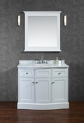 "Seacliff by Ariel Montauk 42"" Single Sink Vanity Set in White"