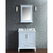 "Seacliff by Ariel Nantucket 30"" Single Sink Vanity Set in White"