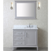 "Seacliff by Ariel Nantucket 42"" Single Sink Vanity Set in Taupe Grey"