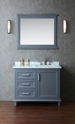 "Seacliff by Ariel Nantucket 42"" Single Sink Vanity Set in Whale Grey"
