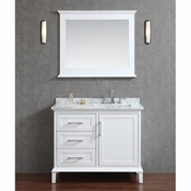 "Seacliff by Ariel Nantucket 42"" Single Sink Vanity Set in White"