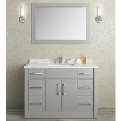 "Seacliff by Ariel Radcliff 48"" Single Sink Vanity Set in Taupe Grey"