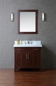 "Seacliff by Ariel Redford 36"" Single Sink Vanity Set in Walnut"