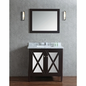 "Seacliff by Ariel Summit 36"" Single Sink Vanity Set in Espresso"