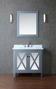 "Seacliff by Ariel Summit 36"" Single Sink Vanity Set in Whale Grey"