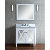 "Seacliff by Ariel Summit 36"" Single Sink Vanity Set in White"