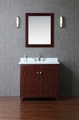 "Seacliff by Ariel Turnberry 36"" Single Sink Vanity Set in Walnut"
