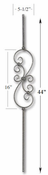 Carolina Stair Supply - Small Scroll Baluster - CS16.1.25-CV