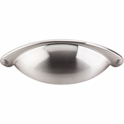 "Top Knobs - Asbury Collection - Somerset Cup Pull 2 1/2"" (c-c) - Brushed Satin Nickel - M400"