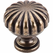 "Top Knobs - Somerset II Collection - Melon Knob 1 1/4"" - German Bronze - M321"