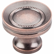 "Top Knobs - Somerset II Collection - Button Faced Knob 1 1/4"" - Antique Copper - M297"