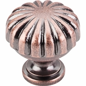 "Top Knobs - Somerset II Collection - Melon Knob 1 1/4"" - Antique Copper - M323"