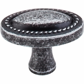 """Top Knobs - Somerset II Collection - Oval Rope Knob 1 1/4"""" - Black Iron - M348"""