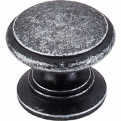 """Top Knobs - Somerset II Collection - Ray Knob 1 1/4"""" - Black Iron - M353"""