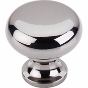 "Top Knobs - Somerset II Collection - Flat Faced Knob 1 1/4"" - Black Nickel - M272"