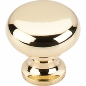 "Top Knobs - Somerset II Collection - Flat Faced Knob 1 1/4"" - Polished Brass - M269"
