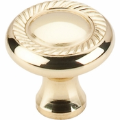 "Top Knobs - Somerset II Collection - Swirl Cut Knob 1 1/4"" - Polished Brass - M324"