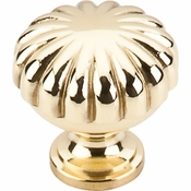 "Top Knobs - Somerset II Collection - Melon Knob 1 1/4"" - Polished Brass - M320"