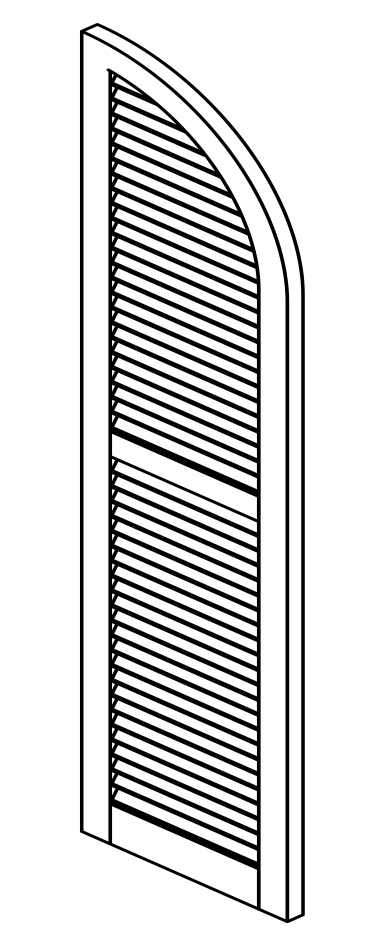 southern shutters composite louvered 2 equal sections with