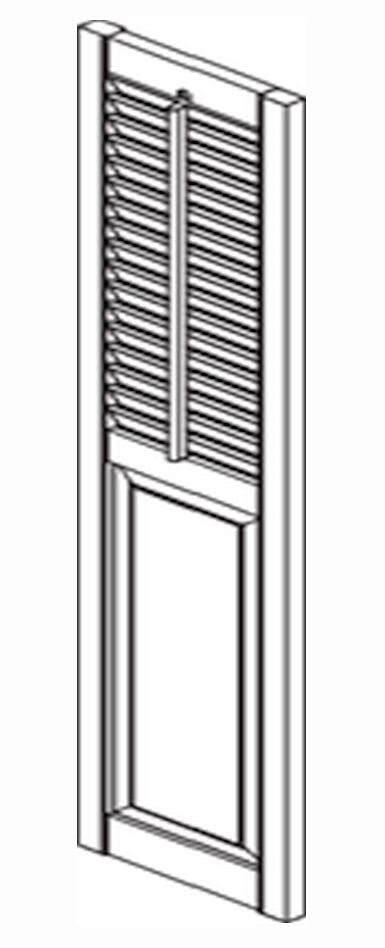 Southern shutters heavy duty recessed stile rail for Recessed panel shutters