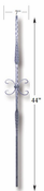 Carolina Stair Supply - Square Hammered Butterfly Baluster - CS16.3.11-SAT