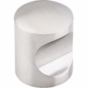 "Top Knobs - Stainless Collection - Indent Knob 1"" - Brushed Stainless Steel - SS22"