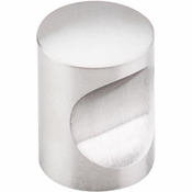 "Top Knobs - Stainless Collection - Indent Knob 13/16"" - Brushed Stainless Steel - SS21"