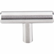 "Top Knobs - Stainless Collection - Solid T-Handle 2"" - Brushed Stainless Steel - SS1"