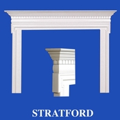 Stratford Mantel - Stain Grade - Red Oak - 36