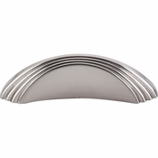 "Top Knobs - Sydney Collection - Sydney Flair Knob 2"" (c-c) - Brushed Satin Nickel - TK212BSN"