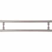 "Top Knobs - Appliance Collection - Hopewell Appliance Pull 18"" (c-c) Brushed Satin Nickel Back To Back - M1331-18 PAIR"
