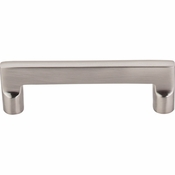 "Top Knobs - Aspen II Collection - Aspen II Flat Sided Pull 4"" (c-c) - Brushed Satin Nickel - M1972"