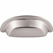 "Top Knobs - Aspen II Collection - Aspen II Cup Pull 3"" (c-c) - Brushed Satin Nickel - M2002"